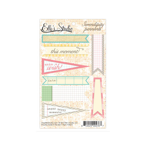 Elle's Studio - Serendipity Collection - Paper Tags - Pennants
