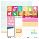 Elle's Studio - Shine Collection - 12 x 12 Double Sided Paper - Fun and Sun