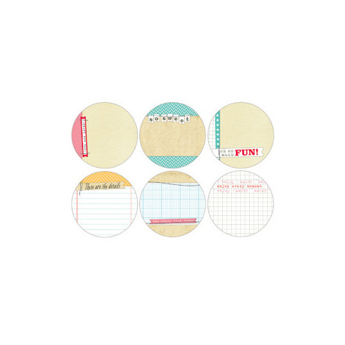 Elle's Studio - The Sweet Life Collection - Tags - 3 Inch Circles