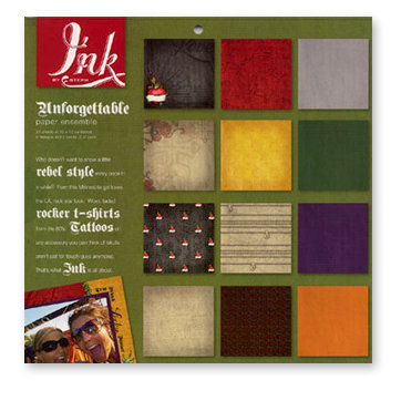 Fiskars - Ink by Steph - 12 x 12 Paper Pack - Unforgettable, CLEARANCE
