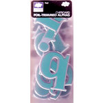 Fiskars - Cloud 9 Design - Chipboard Foil Trimmed Alphabets - Teal, CLEARANCE