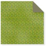 Fiskars - Cloud 9 Design - Kensington Gardens Collection - 12 x 12 Double Sided Paper - Dots-Green, CLEARANCE