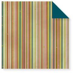 Fiskars - Cloud 9 Design - Kensington Gardens Collection - 12 x 12 Double Sided Paper - Multi Stripe, CLEARANCE