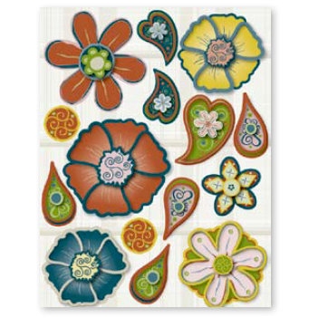 Fiskars - Cloud 9 Design - Kensington Gardens Collection - Dimensional Sparkle Stickers, CLEARANCE