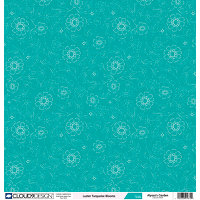 Fiskars - Cloud 9 Design - Alyssa's Garden Collection - 12 x 12 Luster Paper - Turquoise Blooms, CLEARANCE