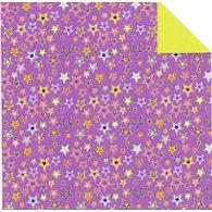 Fiskars - Cloud 9 Design - Halloween Fun Collection - 12 x 12 Double Sided Paper - Purple Stars, CLEARANCE