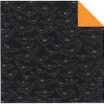 Fiskars - Cloud 9 Design - Halloween Fun Collection - 12 x 12 Double Sided Luster Paper - Bats, CLEARANCE