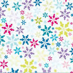 Fiskars - Heidi Grace Designs - Winter Collection - 12 x 12 Shimmer Glitter Paper - Snowflake Fun, CLEARANCE