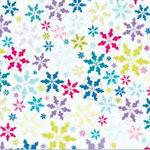 Fiskars - Heidi Grace Designs - Winter Collection - 12 x 12 Shimmer Glitter Paper - Snowflake Fun, CLEARANCE
