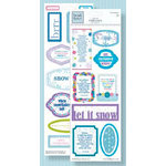 Fiskars - Heidi Grace Designs - Winter Collection - Clear Stickers - Phrases, CLEARANCE
