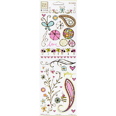 Fiskars - Heidi Grace Designs - Reagan's Closet Collection - Rub Ons - Icons