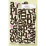 Fiskars - Heidi Grace Designs - Reagan's Closet Collection - Chipboard Stickers - Alphabets, CLEARANCE