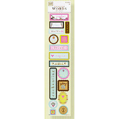 Fiskars - Heidi Grace Designs - Reagan's Closet Collection - 3 Dimensional Stickers - Words