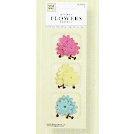Fiskars - Heidi Grace Designs - Reagan's Closet Collection - Fabric Glitter Flowers, CLEARANCE