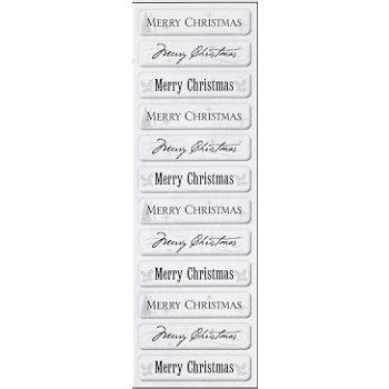 Fiskars - Cloud 9 Design - Clear Epoxy Sentiment Stickers - Merry Christmas