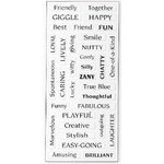 Fiskars - Cloud 9 Design - Clear Epoxy Word Stickers - Friend, CLEARANCE