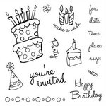 Fiskars - Clear Acrylic Stamps - Mini - How Many Candles