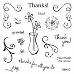 Fiskars - Clear Acrylic Stamps - Mini - Gracias Merci Grazie