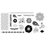 Fiskars - Cloud 9 Design - Clear Acrylic Stamps - 4 x 8 - Kensington Gardens, CLEARANCE