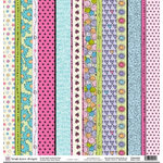 Fiskars - Heidi Grace Designs - Sweetest Bug Collection - 12 x 12 Double Sided Paper - Sweet Stripes, CLEARANCE
