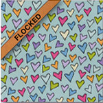 Fiskars - Heidi Grace Designs - Sweetest Bug Collection - 12 x 12 Flocked Paper - Lots Of Love, CLEARANCE