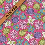 Fiskars - Heidi Grace Designs - Sweetest Bug Collection - 12 x 12 Flocked Paper - My Garden