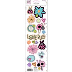 Fiskars - Heidi Grace Designs - Sweetest Bug Collection - Glitter Cardstock Stickers - Icons