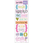 Fiskars - Heidi Grace Designs - Sweetest Bug Collection - Epoxy Stickers - Word Accents, CLEARANCE