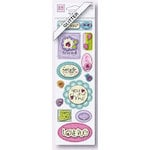 Fiskars - Heidi Grace Designs - Sweetest Bug Collection - Dimensional Glitter Stickers - Words, CLEARANCE