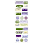 Fiskars - Kimberly Poloson - Nature's Flora Collection - Epoxy Stickers - Words