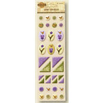 Fiskars - Kimberly Poloson - Nature's Flora Collection - Epoxy Stickers - Icons, CLEARANCE