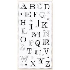 Fiskars - Heidi Grace Designs - Reagan's Closet Collection - Clear Acrylic Stamps - 4 x 8 - Alphabet, CLEARANCE