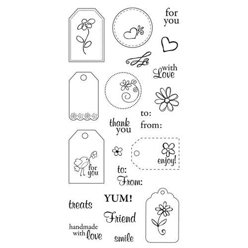 Fiskars - Clear Acrylic Stamps - 4 x 8 - Terrific Tags