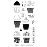 Fiskars - Clear Acrylic Stamps - 4 x 8 - Cupcakes and More