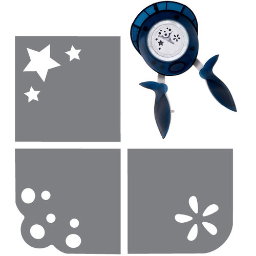 Fiskars - 3-in-1 Corner Squeeze Punch - Starlets