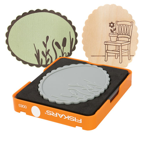 Fiskars - Fuse Creativity System - Die Cutting Design Set - Medium - Complex Pattern - Scalloped Oval