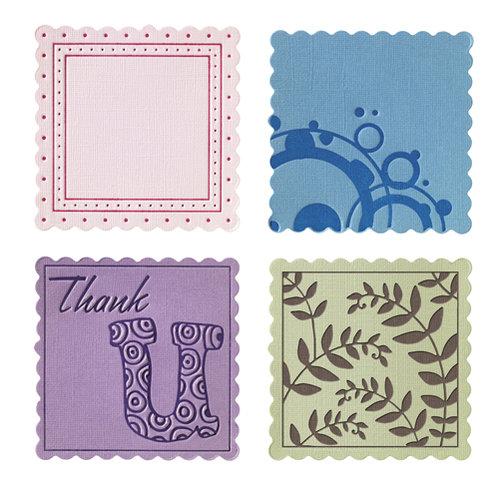 Fiskars - Fuse Creativity System - Die Cutting Design Set - Plate Expansion Pack - Medium - Scalloped Square