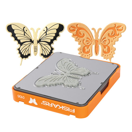 Fiskars - Fuse Creativity System - Die Cutting Design Set - Photo-etched - Medium - Butterfly