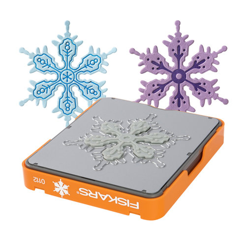 Fiskars - Fuse Creativity System - Die Cutting Design Set - Photo-etched - Medium - Snowflake