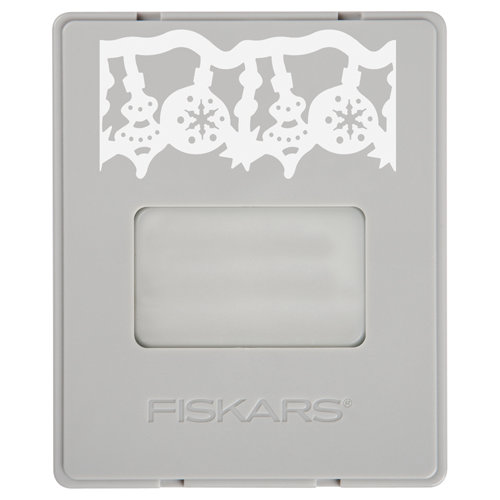 Fiskars - AdvantEdge Punch System - Christmas - Interchangeable Border Punch - Cartridge - Large - All A Glow