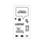 Fiskars - Clear Acrylic Stamps - Time to Celebrate
