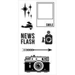 Fiskars - Teresa Collins - Clear Acrylic Stamps - Retro Flash