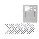 Fiskars - AdvantEdge Punch System - Interchangeable Border Punch - Cartridge - Dotted Herringbone