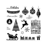 Fiskars - Teresa Collins - Simple Stick Stamps - Clear Acrylic Stamps - Twas The Night Before
