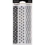 Fiskars - Teresa Collins - Clear Acrylic Stamps - Tribal