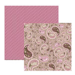 Fiskars - Heidi Grace Designs - 12x12 Double-Sided Cardstock - Cherry Wood Lane Collection - Paisley, CLEARANCE