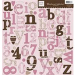 Fiskars - Heidi Grace Designs - Alphabet Chipboard - Cherry Wood Lane Collection, CLEARANCE