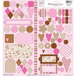 Fiskars - Heidi Grace Designs - Chipboard Shapes - Baby Girl Collection, CLEARANCE