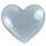 Fiskars - Cloud 9 Design - Stickers - Rain Dots - Heart - Silver, CLEARANCE