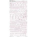 Fiskars - Heidi Grace Designs - Rub Ons - Alphabet - Cherry Wood Lane Collection, CLEARANCE